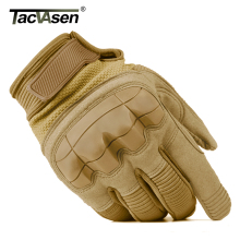 TACVASEN Military Tactical Combat Gloves Men Army Gloves Airsoft Protection Shell Full Finger Gloves Paintball Wear TD-YWHX-023(China)