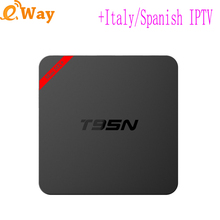T95N S905X Android 6.0 TV box Wifi Media player With European IPTV Package Arabic Sports TV French EXYU Portugal Turkey IT Ip Tv(China)