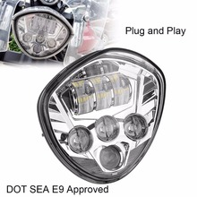 Victory Polaris LED Headlight 40W Cross Country Motorcycle Bike Light Driving Lamp 12V