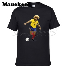Men The Child Carlos Valderrama 10 'El Pibe' Colombia Legend Captain T-shirt Clothes T Shirt Men's o-neck tee W17072603(China)