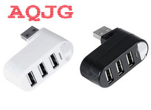 Rotatable High Speed 3 Ports USB HUB 2.0 USB Splitter Adapter for Notebook/Tablet Computer PC Peripherals AQJG