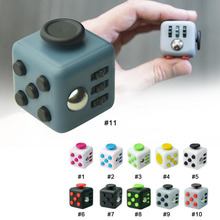 11 Styles 3.3*3.3*3.3cm Fidget Cube Vinyl Desk Toy Keychain Squeeze Fun Stress Reliever Click Glide Flip Spin Breathe Roll