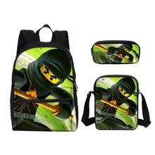 VEEVANV Small Lego Ninjago Children School Bags Canvas Cartoon Printing Laptop Backpacks Kids Fashion Bookbag Boys Shoulder Bags