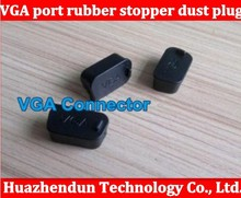 Free shipping VGA display socket Data port rubber stopper dust plug cover protective case interface also have USA hdmi 200pcs(China)