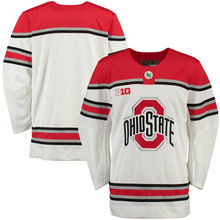 Ohio State Buckeyes University Mens Hockey Jersey White Throwback Embroidery Stitched Custom any Number and name Jerseys(China)