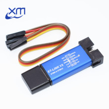 10PCS ST LINK Stlink ST-Link V2 Mini STM8 STM32 Simulator Download Programmer Programming With Cover
