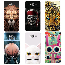 3D Relief Print Plastic Hard Back Cover Case For Huawei Honor 2 U9508 U8950D Ascend G600 Phone Bag Coque New Animal Flower Style