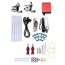Professional Tattoo Kits Wrap Coils Guns Machine Shader Liner Power Supply Disposable Needles Choosing The Power Cable
