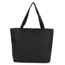 Wholesale Blank Black White Color Women's Shoulder Bag Durable Canvas Handbag Casual Tote Bag Shopping Bags Without Print Bag