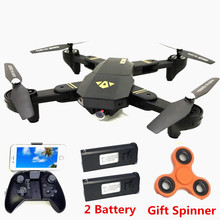 VISUO XS809HW XS809W Wifi FPV 2MP 720P HD Camera Foldable Selfie Drone Altitude Hold RC Quadcopter Drones RC Helicopter VS E58(China)
