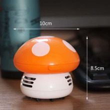 2017 New Ritzy Cute Mini Mushroom Corner Desk Table Dust Vacuum Cleaner Sweeper Unique small vacuum hand held sweeper