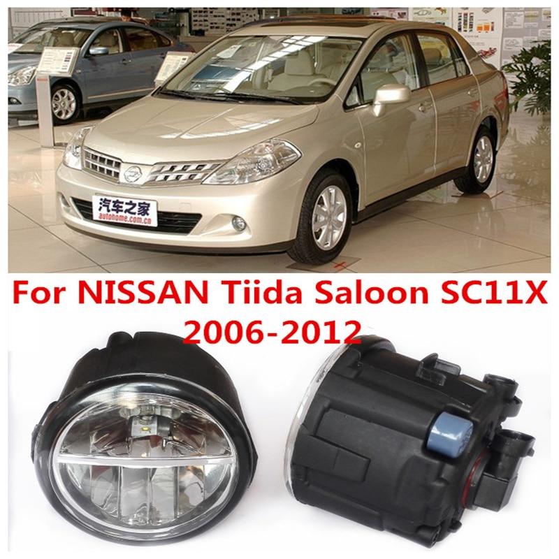 For NISSAN Tiida Saloon SC11X  2006-2012 White Fog Lamps Lights 6000K  2 PCS<br><br>Aliexpress