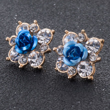 New Design Fashion Accessories Resin Flower Stud Earrings For Temperament Lady Hot Sale Best Gift(China)