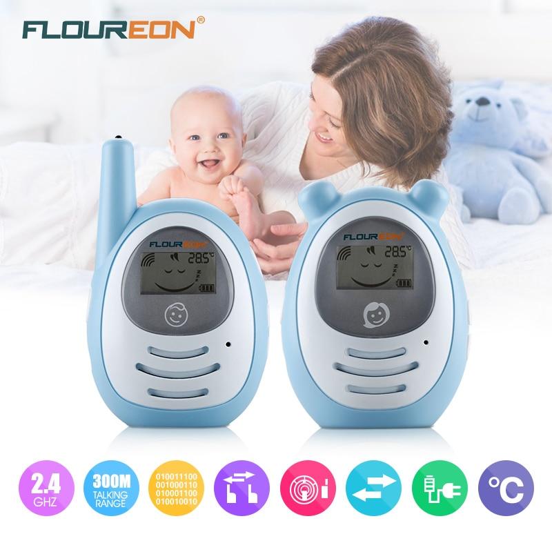 Floureon Portable baby monitor Wireless Transmission Radio Digital Baby Phone set 2 Way Talk Bebe Phone Monitor blue<br>