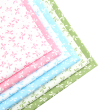NEW 6pcs Bow-knot Floral Series Patchwork Cotton Fabric Fat Quarter Bundles Textile Sewing Patchwork Fabric For Bag Baby Cloth