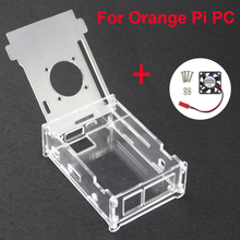 Orange Pi PC Acrylic Transparent Case Box Orange Pi Plus Clear Enclosure Cover Shell + CPU Cooling Fan for Orang Pi PC/PC Plus