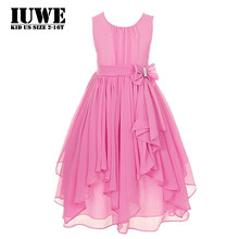 Dress for Girls Pink Bow Elegant Dress on A Girl 2017 Summer Dresses for Girls 2-12 Yrars Clothing for girls Baby Party Dresses
