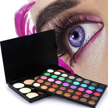 Professional Beauty 55 Colors Cosmetic Matte Eyeshadow Cream Eye Shadow Makeup Palette Shimmer Set Colorful Makeup Kit(China)
