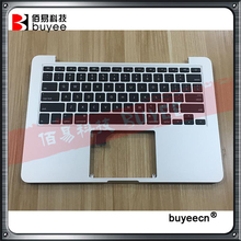 "Original For MacBook Retina Pro 13.3"" A1502 Top Case Palmrest Palm Rest Topcase with US Keyboard Backlight 2015 Year"