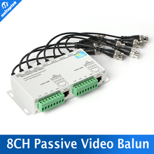 8CH BNC Video Balun RJ45 Port Or Terminal Block UTP Cable Transfer  Video Converter Plug and Play Support 720p CVI Camera 400m