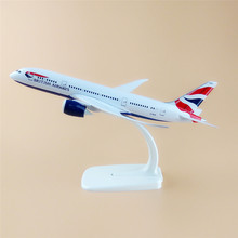 20cm Metal Plane Model Air British Airways Boeing 787 B787 Airplane Model Airlines w Stand Aircraft  Kids Gift