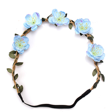 M MISM Women Satin Ribbon Flower Hair Band Girl Hair band Women Girl Princess Headwear Headband Hair Accessories(China)
