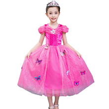 Kids gorgeous Girls Christmas Costumes Long Dresses Snow White Beauty and Beast Cosplay Clothing Children Princess Belle dresses(China)
