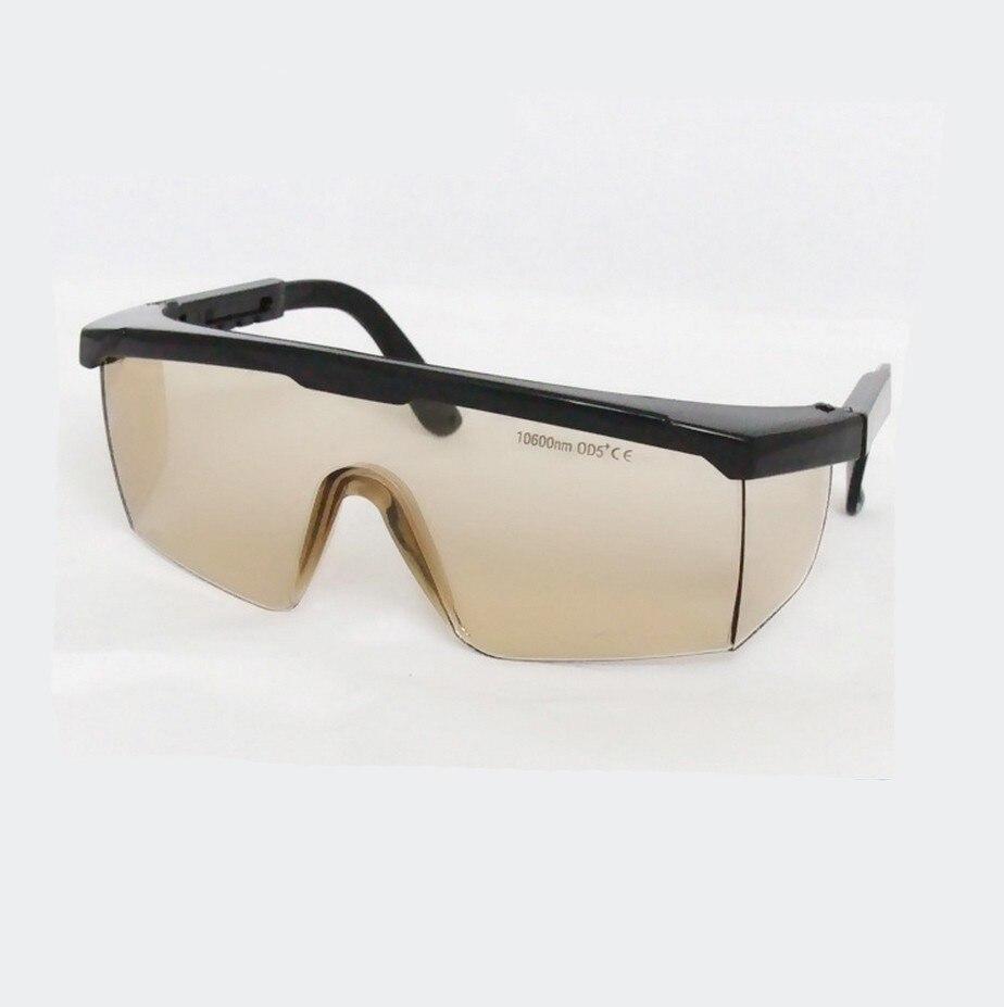 10PCS/LOT co2 Laser safety glasses for 10600nm Co2 laser , CE O.D 4+ VLT&gt;95%<br>