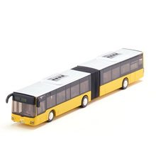 1/50 Scale Yellow Diecast Public Bus Models Link Type with Box Toys For Boys Collections Gifts Displays