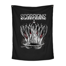 DIY Scorpions Rock Band Hanging Flags And Banners Posters Painting For Bar tattoo Shop Wall Decorations Living Room Curtain