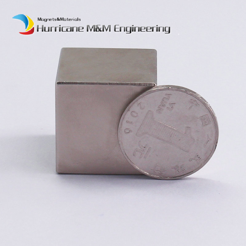 NdFeB Magnet Block about 1x1x1 25mm Cube 76 lbs Strong Neodymium Permanent Magnets Rare Earth Magnets Grade N42 NiCuNi Plated<br>