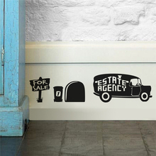 estate agency for sale mouse hole wall stickers room decoration 380. diy vinyl home decal lovely animal  mural art 5.2