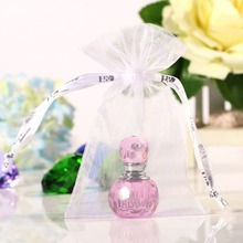2ML Unique Mini Pink Crystal Glass Empty  Woman Perfume Bottle 2inch Art Travel Bottle Refillable Container Wedding Lady Gift