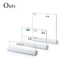 FANXI high capacity white color metal jewelry display stand for counter showcase earrings ear stud displays rack
