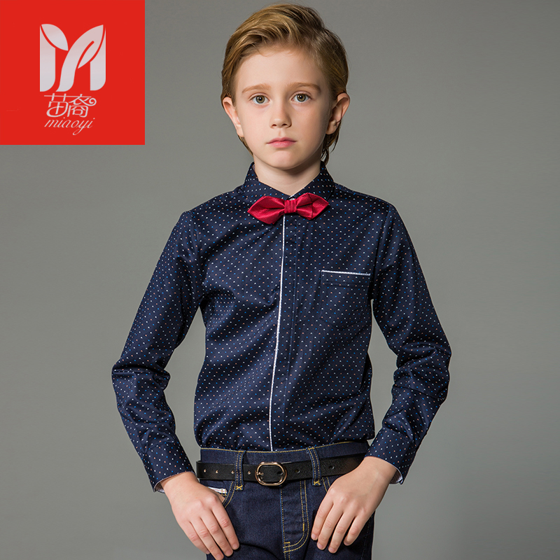 2017 New Spring Autumn Long Sleeve Boys Blouses Breathable 100% Cotton Kids Children Shirts  ears Kids Shirts Boys Shirts<br>
