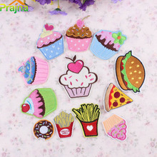 Prajna Crown Space Heart Unicorn Patch Applique Cute Embroidered Patches Kids Iron On Cartoon Patches For Clothes Stickers Jeans(China)
