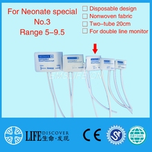 Disposable NIBP Cuff TPU film coat for neonate purpose double tube NO.3,without connector(China)