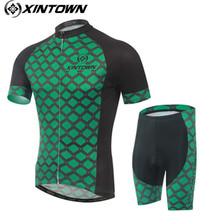 XINTOWN Cycling Jersey sets 2017 cheap authentic Racing Bicycle Roupa camisa ciclismo wiggins MTB jersey funny cycling jerseys(China)