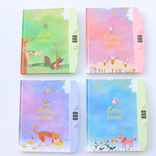 Creative colorful carton paper school student personal diary/monthly planner notebook stationery ,with password lock B6