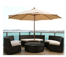 Factory direct sale Outdoor All Weather Wicker Furniture Conversation Patio Set Dining Table Chairs