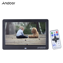 "Andoer 10"" HD LED Digital Photo Frame 1280*600 Electronic Picture Frame Clock Calendar MP3 MP4 Movie Player with Remote Control"