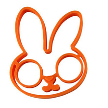 Silicone Fried Rabbit Silicone Egg Mold Shaper Ring Kitchen Gadgets Cooking Tools Pancake Kid Gift Surprise Eggs Delicate KC1100(China)