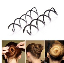 10 Pcs Black Spiral Spin Screw Pin Hair Twist Barrette Women Hairpins Styling Tool(China)