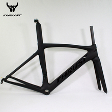 Carbon Road Frame THRUST Bicycle Frameset UD THRUST BlackRoad Bike Di2 Mechanical Carbon Frame 52Ccm Bicycle Road Carbon Frame(China)