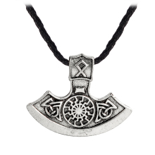 Vintage Sunflower Ax Pendant Necklace Fashion Viking Ancient silver gold Slavic Amulet Men Necklace Symbol Pagan Jewelry Gift(China)