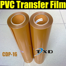 CDP-16 Gold PVC Heat Transfer Film/vinyl+High Quality+Free Shipping with size:0.5x25m per roll