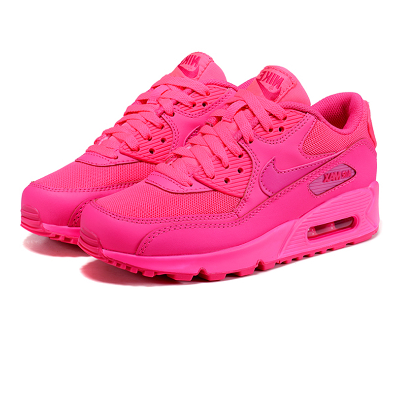 36bda3f83f4c Nike Air Max 90 Women s Breathable Running Shoes Original Women Sport Pink  Sneakers Shoes 345017-601