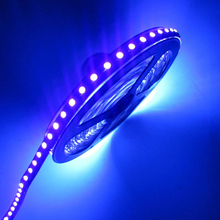 12V 3528/5050 SMD 60led/m 120led/m UV 395-405nm Ultraviolet waterproof Purple Led Flexible Strip Light Tape Black lamp lighting(China)