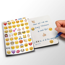 Hot 20 Sheets 960 Die Cut Vinyl Emoji Smile Stickers for Laptop Notebook Message Cartoon Decoration Baby Kids Toys For Children