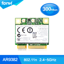 Atheros AR5BHB116 AR9832 Dual band 300Mbps Wifi 802.11 a/b/g/n Wireless Half Mini PCI-E Card 2.4Ghz 5Ghz Notebook Wlan Adapter